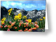 Wild Flowers In The Moutains Greeting Card