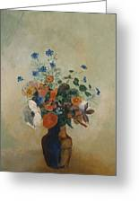 Wild Flowers Greeting Card by Odilon Redon