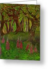 Wild Foxgloves Greeting Card