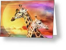 Wild Generations - Giraffes  Greeting Card