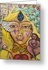 Wild Goddess Greeting Card