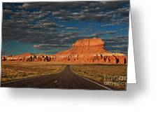 Wild Horse Butte And Road Goblin Valley Utah Greeting Card