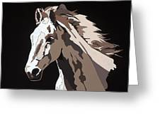 Wild Horse With Hidden Pictures Greeting Card