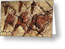 Wild Horses - Cave Art Greeting Card