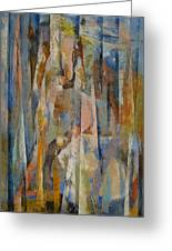Wild Horses Abstract Greeting Card