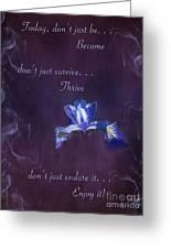 Wild Iris Inspirational Print Greeting Card