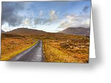 Wild Landscape Of Connemara Ireland Greeting Card by Mark Tisdale