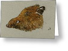 Wild Pig Greeting Card