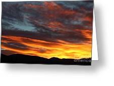 Wild Sunrise Over The Mountains Greeting Card