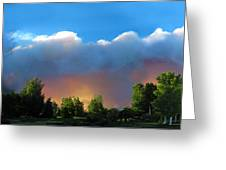 Wildfire Coming Greeting Card