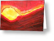 Wildfire Original Painting Greeting Card