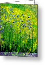 Wildflower Impression By Jrr Greeting Card by First Star Art