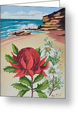 Wildflowers And Headland Greeting Card