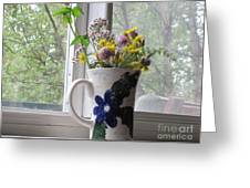 Wildflowers In Vase Greeting Card