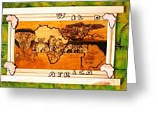 Wildlife Africa- Botswana  Safari Wood Pyrography Fine Art Greeting Card