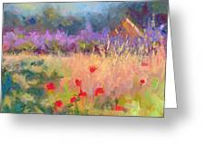 Wildrain Retreat - Lavender And Poppies Greeting Card