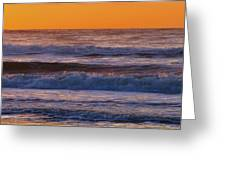Wildwood Beach Golden Sky Greeting Card