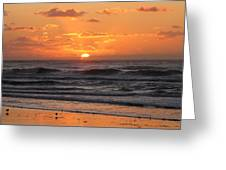 Wildwood Beach Here Comes The Sun Greeting Card