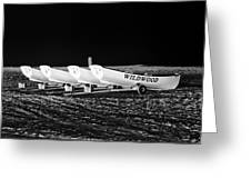 Wildwood Lifeboats At Night In Black And White Greeting Card