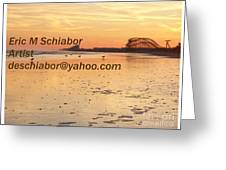 Wildwood Sunset Greeting Card by Eric  Schiabor