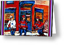 Wilenskys Hockey Art Posters Prints Cards Originals Commission Montreal Paintings Contact C Spandau Greeting Card