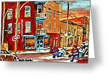 Wilenskys Paintings Hockey Art Prints Originals Commissions Contact Popular Montreal Artist Cspandau Greeting Card