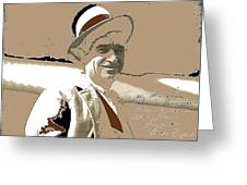 Will Rogers Informal Portrait Unknown Photographer Or Location 1924-2014  Greeting Card