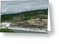 Willamette Falls River Scene  Greeting Card