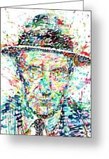 William Burroughs Watercolor Portrait Greeting Card