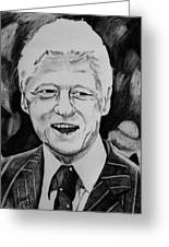 William Jefferson Clinton Greeting Card by Jeremy Moore