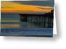 William R. Hearst Memorial  State Beach Pier Greeting Card