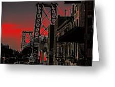 Williamsburg Bridge Abstract Greeting Card