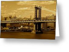 Williamsburg Bridge New York City Greeting Card