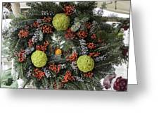 Williamsburg Wreath Squared Greeting Card