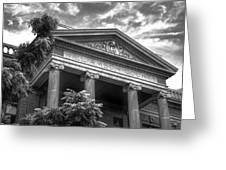 Williamson County Courthouse Bw Greeting Card