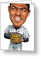 Willie Mays Greeting Card by Art
