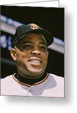 Willie Mays Close-up Greeting Card by Retro Images Archive