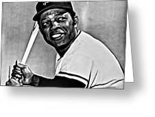 Willie Mays Painting Greeting Card