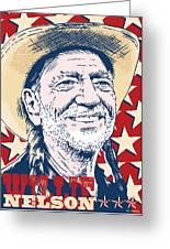 Willie Nelson Pop Art Greeting Card by Jim Zahniser