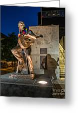 Austin Willie Nelson Statue Greeting Card