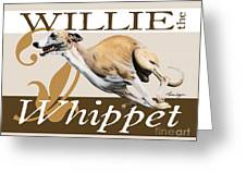 Willie The Whippet Greeting Card by Liane Weyers