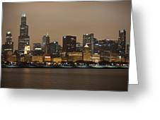 Willis Tower In Fog Greeting Card