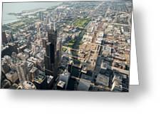Willis Tower Southwest Chicago Aloft Greeting Card