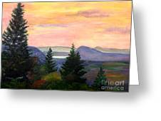 Willoughby Gap From Burke Mountain Greeting Card
