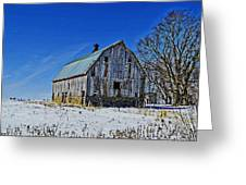 Willow Barn Painting Greeting Card