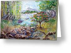 Willow By The Sea Greeting Card