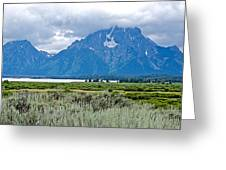 Willow Flats Overlook In Grand Teton National Park-wyoming   Greeting Card