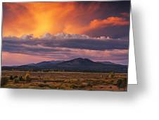 Willow Flats Sunset Greeting Card
