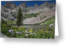 Willow Lake Greeting Card by Michael J Bauer