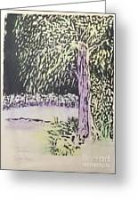 Willow Print Greeting Card